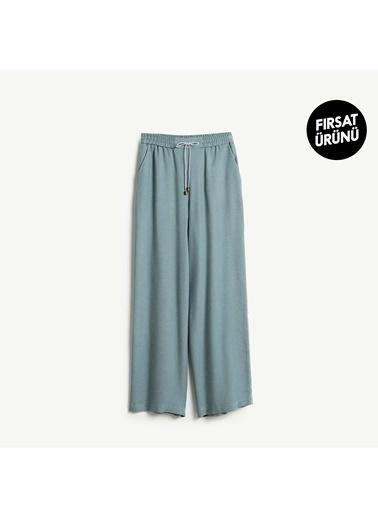 Yargıcı Kadın Biye Detayli Pantolon 9KKPN3128X Yeşil